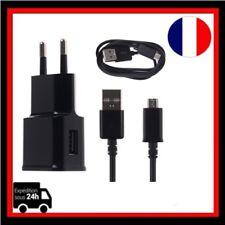 Chargeur Adaptateur 1 Port  5V-1A EU  USB Secteur +Cable micro USB Samsung,Sony