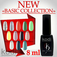 "Kodi NEW Colors ""BASIC COLLECTION"" 8ml. Gel LED/UV Nail Polish Shine French Pink"