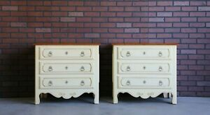 Nightstands ~ French Bedside Chests ~ Legacy Nightstands by Ethan Allen ~ A Pair