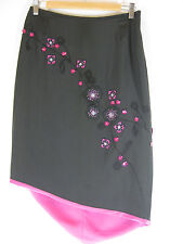 Great Sz 10 Esprit Silk Beaded Skirt Designer
