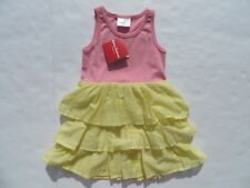 Hanna Andersson 130 100 Girls Dress 100% Cotton NEW Pink Yellow Dresses Tiered