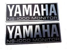 Yamaha NS-1000M NS1000M speakers badges metal stainless steel stick on