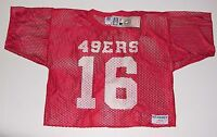 Vintage 80's MONTANA #16 MESH Practice JERSEY Logo 7 SF 49ers NWT New Old Stock