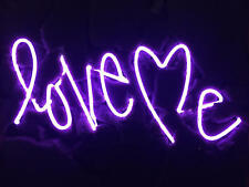 "New Love Me Purple Wall Decor Acrylic Neon Light Sign 14"""