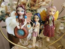Jasmine Becket-Griffith Mechanical Angel I, Ii & Iii Fairy Ornaments Set New