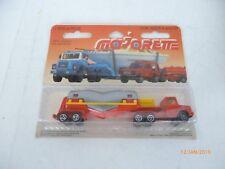 Diecast Majorette Magirus Truck & Trailer Red NEW IN BLISTER