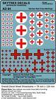 SKYTREX DÉCALQUES Allemand Croix Rouge Signalisations 1/76,20mm Echelle -AD84