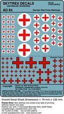 Skytrex 1/76 (20mm) adhesivos - Alemán rojo cruces