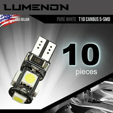 T10 Canbus Error Free Wedge 5-SMD White 5050 Led light 6k 2825 158 192 168 194