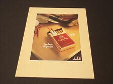 DunhilL Années 1985's - 1990's  Advertising Vintage AD Pub Paper 1980 - 1990