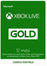 XBOX LIVE GOLD 12 Mesi, CODICE CONSEGNA IMMEDIATA  24/7 (LEGGERE DESCRIZIONE)