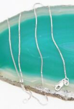 """Necklace - 2.158 grams Excellent Condition 15.75"""" 14K White Gold .85mm Box Chain"""