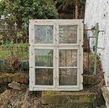 Ca.120 Jahre altes Fenster Holzfenster Sprossenfenster Deko Bauernhof Oberlicht
