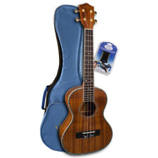 Lanikai Exotic Series LULKPTS Koa Tenor Ukulele Package Gig Bag, Tuner, Booklet