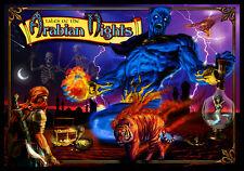 Tales of the Arabian Nights Pinball Alternate Translite