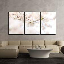 """Wall26 - Cherry Blossom in Spring - Canvas Art Wall Decor - 16""""x24""""x3 Panels"""