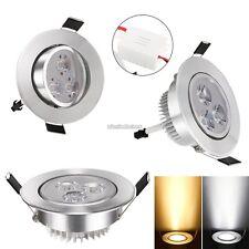 encastré 9W LED Plafonnier En bas Fixiture Clair Ampoule Spot Lumière & Lampe