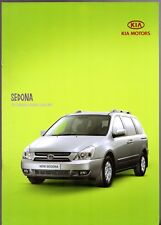 Kia Sedona 2006-07 UK Market Sales Brochure 2.7 V6 2.9 CRDi LS GS TS