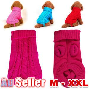 Cat Turtleneck Jumper Knitwear Pet Coat Sweater Dog Puppy Knitted Coat Winter