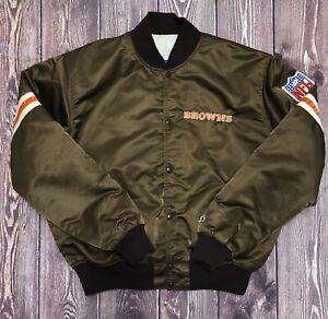 Vintage STARTER NFL Cleveland Browns Satin Jacket Size XL