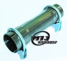 """2"""" 51mm Stainless Exhaust Pipe 200mm Long Connector Sleeve Joiner + 2x Clamps"""