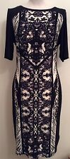 Marks & Spencer Collection *NEW* Black and White Half Sleeves Dress Size 14