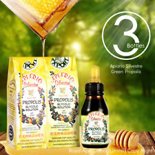 Official distributor-3 Bottles Apiario Silvestre Green Bee Propolis-Non Alcohol