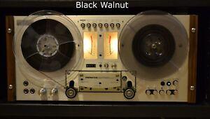 Pioneer RT-707 Side Rails, Solid Black Walnut fits RT-701 too Cheeks Beautiful