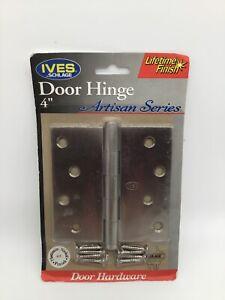 "IVES SCHLAGE 4""  Door Hinge Artisan Series Platinum Nickel Finish  NEW"