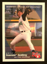 2005 Dayton Dragons HOMER BAILEY Midwest League Rookie RC
