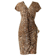 BNWT VINTAGE LIMITED EDITION ROBERTO CAVALLI JAGUAR WRAP DRESS SIZE 10