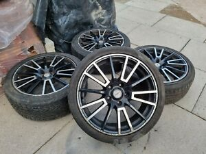 """Fox racing 18"""" Alloy wheels 5x120 with tyres 3.5m to 5m"""