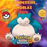 Pokémon SUN & MOON - COMPETITIVE SNORLAX - 6IVS - ⭐️ Shiny ⭐️ No Shiny