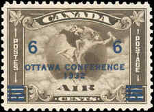 1932 Canada Mint H VF Scott #C4 (C2 Surcharged) Air Mail Issue Stamp