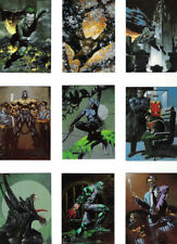 DC BATMAN MASTER SERIES COMPLETE SET OF 90 ART CARDS WITH 8 ARTIST PROOFS NM