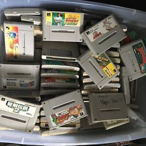 WHOLESALE LOT of 20 Random Nintendo Super Famicom Games SFC SNES Japan Import