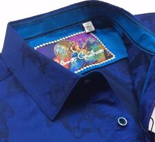 Robert Graham Men Skull Head Football Vintage Geometric Patterned Sport Shirts