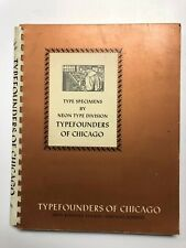 Type Specimens by Neon Type Division - Founders Type Founders of Chicago - 1962