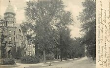 Vintage Postcard Warner hall and North Professor St. Oberlin Ohio Lorain County