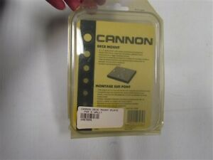 """CANNON 1487004 DECK MOUNTING PLATE 4"""" X 3"""" MARINE BOAT"""