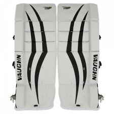 "New Vaughn Xf youth goalie leg pads White/Black 22""+2 ice hockey Velocity V7 Yth"