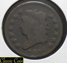 1814 U.S. Classic Head Large Cent 1c Copper Penny Tough Coin
