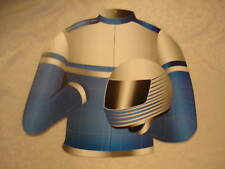 Grand Prix Car Racing Suit Cut Out Double Sided Blue/Red 43cm x 48cm