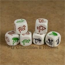 NEW 6 Species Dice Set Fish Ant Frog Horse Eagle Turtle Game Bunco D6 Amimal