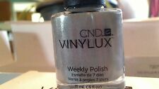 CND VINYLUX SILVER CHROME WEEKLY NAIL POLISH MATCHES SHELLAC HTF RARE SHIPS NOW