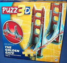 PUZZ 3D PUZZLE Beginner  - THE GOLDEN GATE 14 inches long NISB New Age 8+