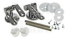 REPLACEMENT TOILET SEAT HINGE SET CHROME HINGES WITH FITTINGS