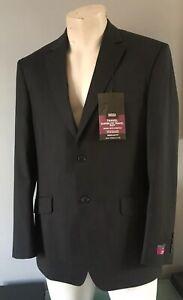 Marks and Spencer Mens Black Superlite Travel Suit Jacket chest 102cms 40ins New