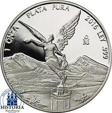 Mexiko Silber 1 Oz Libertad 2016 Silbermünze Siegesgöttin in Polierter Platte