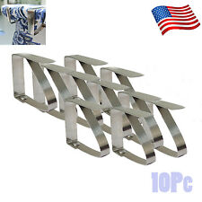 12x Stainless Steel Table Cloth Cover Clip Holder Tablecloth Clamps for Picnic